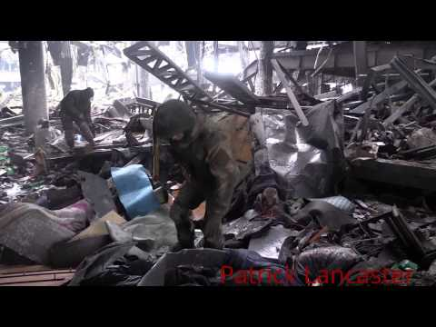 GRAPHIC 18+ My Report on status of Donetsk airport today 01/23/15