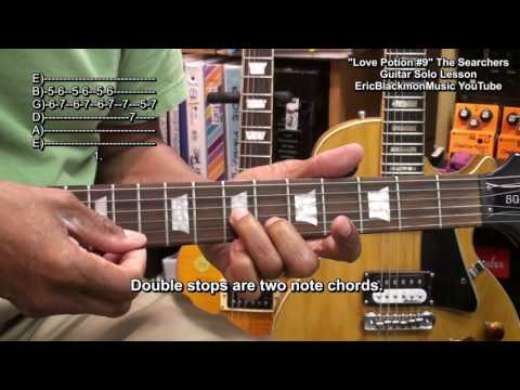 LOVE POTION Number 9 The Searchers 1959 Guitar Solo Lesson  EricBlackmonGuitar