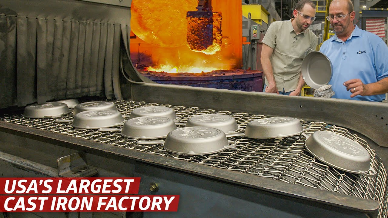 How America's Largest Cast Iron Cookware Plant Makes Almost Two Million Pans per Month — Dan Does