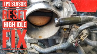 HOW TO RESET A TPS SENSOR AUTEL MK808 THROTTLE POSITIONING HIGH IDLE FIX  QUICK AND EASY