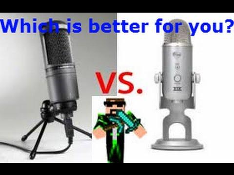 audio technica at2020 usb vs blue yeti usb microphone audio test funnycat tv. Black Bedroom Furniture Sets. Home Design Ideas