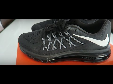 HD Close up Nike Air Max 360 2015 Black Unboxing