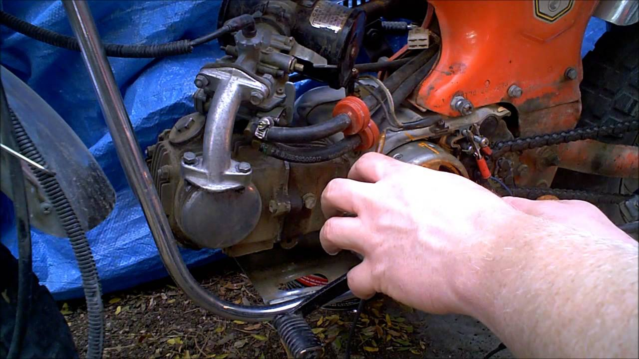 honda trail 70 50 points and condensor replace and timing ct70 youtube [ 1280 x 720 Pixel ]
