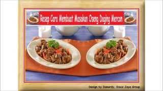 Resep Cara Membuat Masakan Oseng Daging Mercon