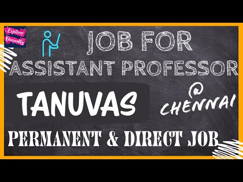 JOB | ASSISTANT PROFESSOR | VACANCY 2020 | CHENNAI | PERMANENT & DIRECT POST | EXPLORE ETERNALLY |