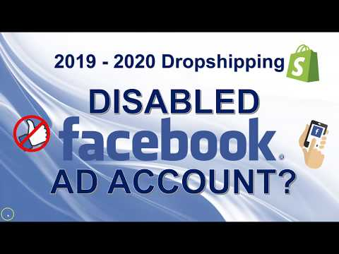 What to do if Facebook disables your ad account | Dropshipping 2019 - 2020 thumbnail