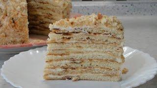 Торт на сковороде со сметанным кремом(Пошаговый рецепт с фото здесь: http://eda-blog.ru/tort-na-skovorode.html Рецепт заварного крема https://www.youtube.com/watch?v=CT7SAPNBFgA ..., 2016-10-07T08:40:35.000Z)