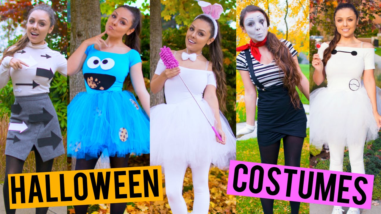 Last Minute DIY Halloween Costumes! Cookie Monster Baymax One Direction + More! | Kristi-Anne Beil - YouTube  sc 1 st  YouTube & Last Minute DIY Halloween Costumes! Cookie Monster Baymax One ...