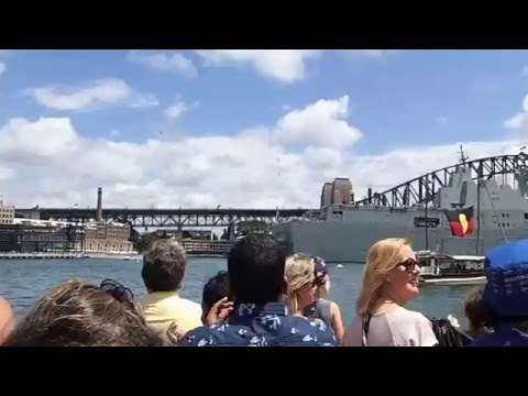 Military Jets over the opera house, Australia Day 2016