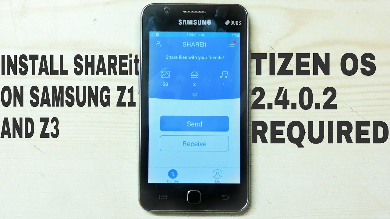 Install shareit on samsung z1 and z3 youtube ccuart Image collections