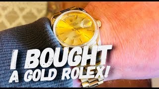 My Newest Watch Purchase - A GOLD ROLEX? - Rolex Oyster Perpetual Day-Date 18038