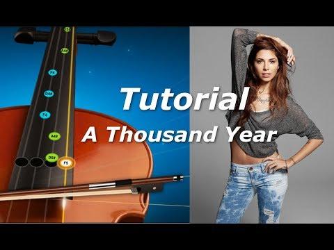 A Thousand Year  Violin Free Tutorial