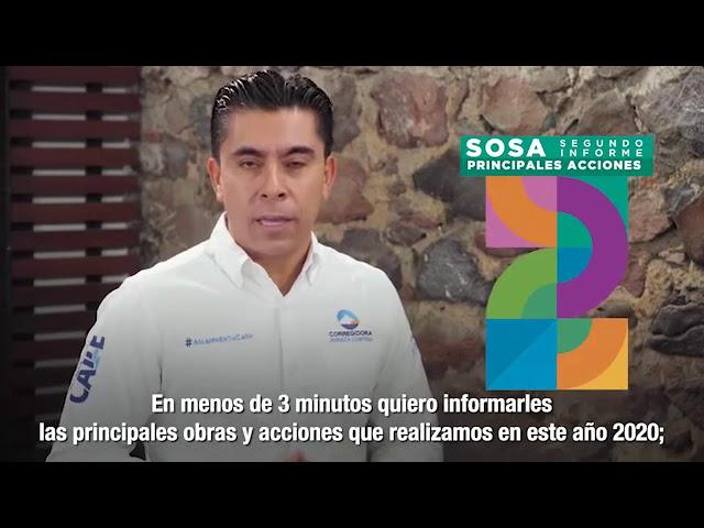 Informe de Roberto Sosa en 3 minutos