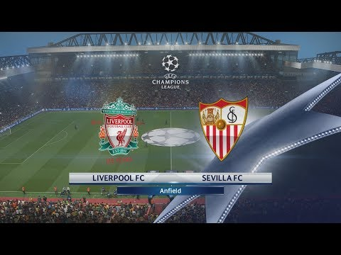 PES 2018 (PS4 Pro) Liverpool v Sevilla UEFA CHAMPIONS LEAGUE 13/09/2017 REPLAY 1080P 60FPS