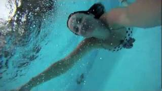 GoPro Underwater Focus Fix - Shanea swimming in the pool