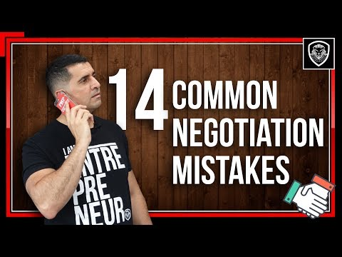 14 Common Negotiation Mistakes