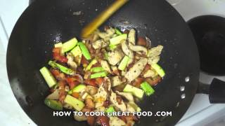 Chicken & Zuchinni Pasta Recipe - Spaghetti Courgette