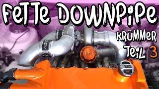 Fette 100mm Aluminium Downpipe für Marius VR6 Turbo! | Philipp Kaess |