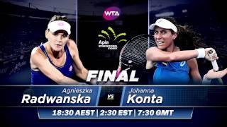 2017 Apia International Sydney Final Preview | Agnieszka Radwanska vs Johanna Konta