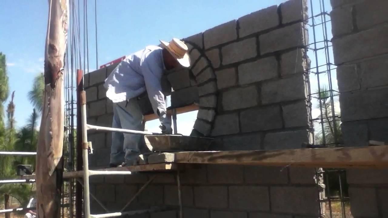 Como hacer un circulo arco con bloke ladrillo youtube Construir una pileta de ladrillos