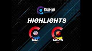 HIGHLIGHTS: United States v China - Men - Curling World Cup second leg, Omaha, United States