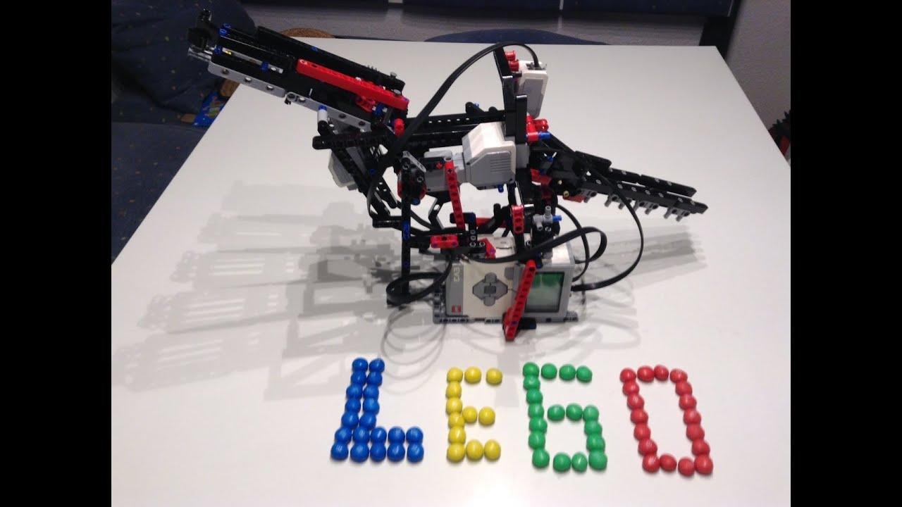 Cool Lego Mindstorms EV3 m & m`s color sorter buil - YouTube