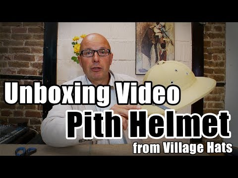 Pith Helmet Unboxing Video - Village Hats