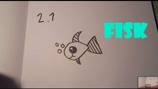 Lær at tegne EN FISK   HVORDANTEGNERJEG.DK