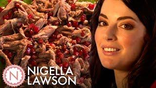 Nigella Lawson's Shredded Lamb Salad With Mint and Pomegranate | Nigella Bites