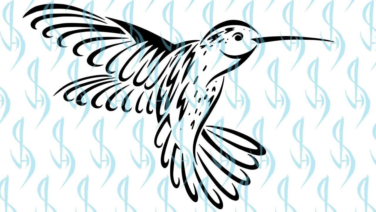 81d8ac5f2 How to Draw a Tribal Hummingbird Tattoo Design - YouTube