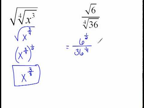 More Examples of Using Rational Exponents to Simplify