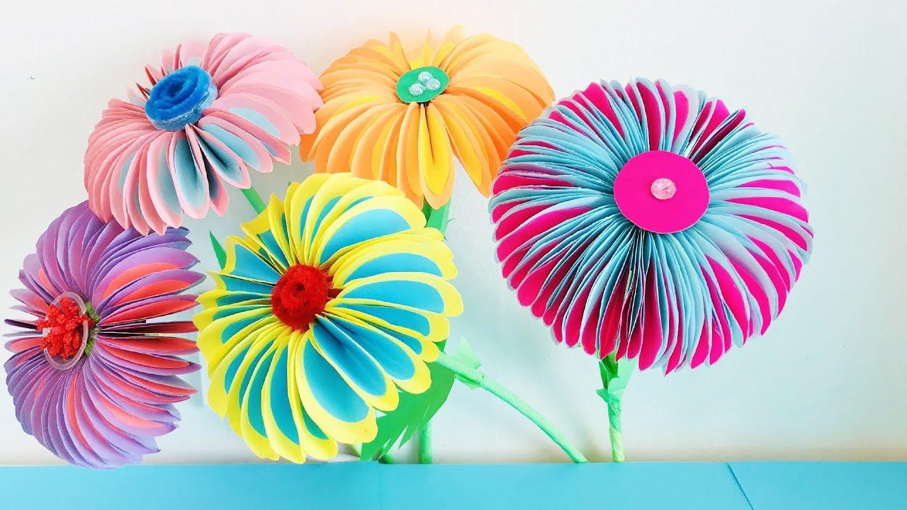Цветы маме на 8 марта своими руками из бумаги, мхом ягодами