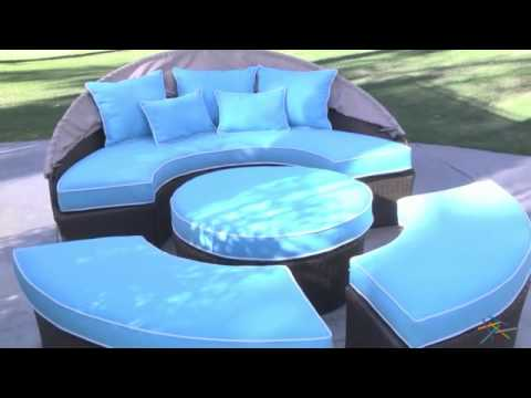 Rendezvous All Weather Wicker Sectional Daybed Product Review Video