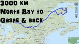 3000km motorcycle camping trip to gaspe quebec and back