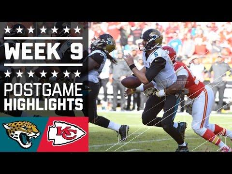 Jaguars vs. Chiefs | NFL Week 9 Game Highlights