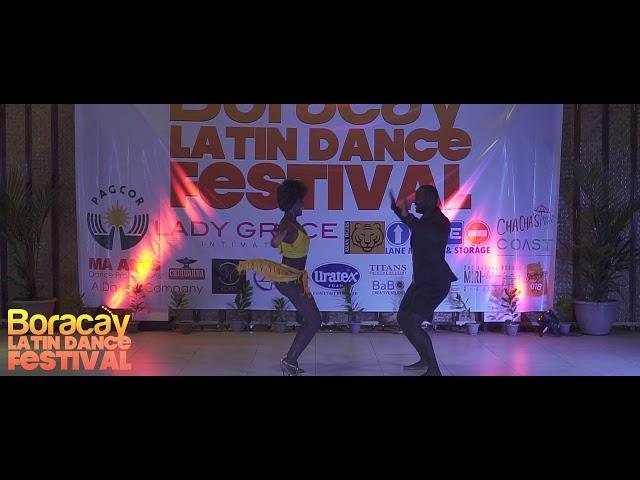 Theo Awadzi and Eliza Salsa at Boracay Latin Dance Festival. -Ping Pong