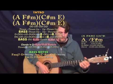 Selfish (PnB Rock) Guitar Lesson Chord Chart - A F#m C#m E