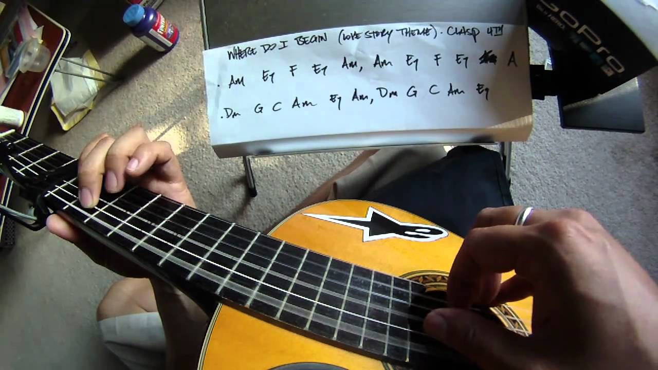 Tutorial where do i begin love story theme guitar tutorial where do i begin love story theme guitar instrumental cover fingerstyle with chords go youtube hexwebz Images