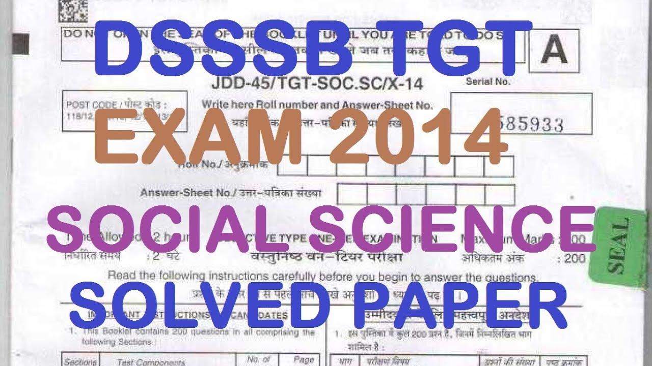 dsssb tgt social science solved paper youtube