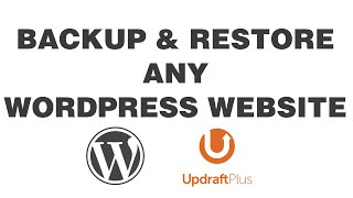 How to Backup/Restore Any WordPress Website (UpdraftPlus) in UNDER 3 MINS!