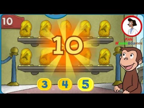 Curious George Museum of Tens For Kids Eucation Games Movies