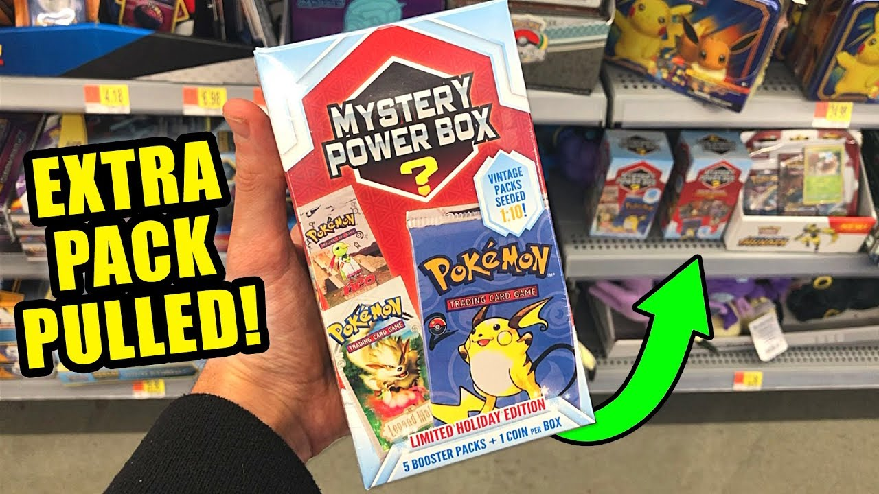 58b9836efa WALMART HAS NEW POKEMON CARDS MYSTERY POWER BOXES! Opening RARE Pack INSIDE!