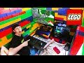 WORLDS BIGGEST LEGO FORT WITH GAMING SETUP!
