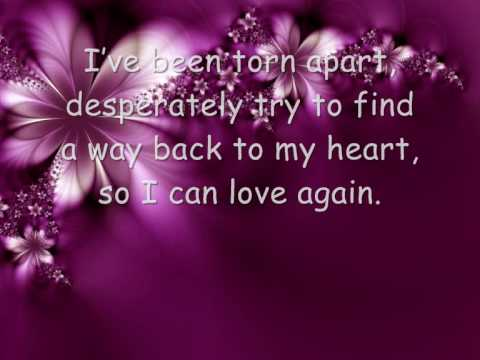 Alesha Dixon - To Love Again - With Lyrics