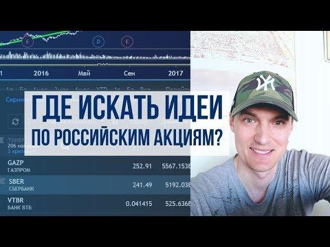 Российские акции: Где искать Идеи? Скрининг в TradingView