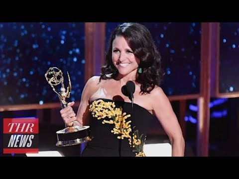'Veep's' Julia Louis-Dreyfus Breaks Record With 6th Consecutive Emmy Win | THR News