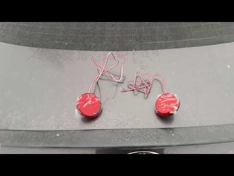 Toyota Corolla.Установка и Подключение светодиодных катафотов в задний бампер.