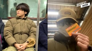 BTS' V shares 'subway ride' photos: Fans bombard SNS with reactions