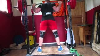 Meet Prep W1d1 130x3 Bench, 110x6 Bench, 170 5x5 High Bar Squat