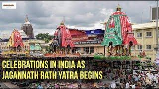 Celebrations in India as Jagannath Rath Yatra begins